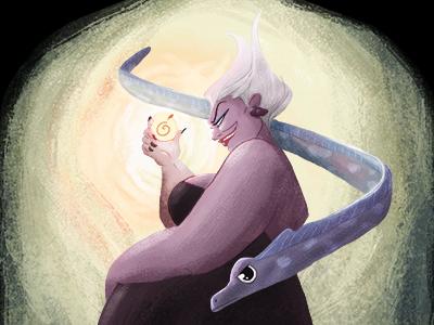 Ursula  ursula illustration ilustración disney villain