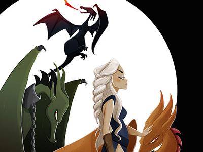 Mother Of Dragons motherofdragons illustration targarien dragons gameofthrones juegodetronos lapendeja