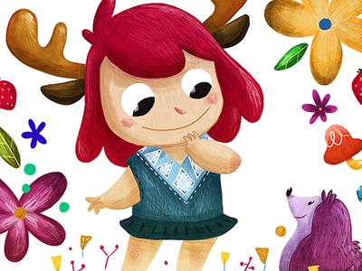Born to be Wild color nature animal kid illustration wild child lapendeja