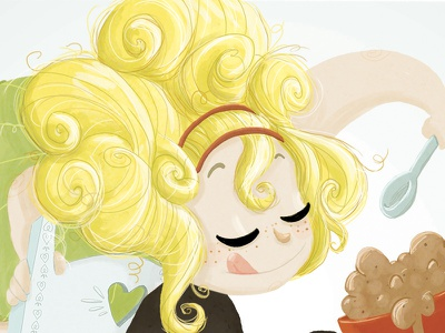 Goldilocks  goldilocks photoshop illustration ilustración drawing draw