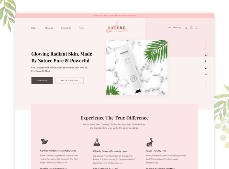 Beauty Product Shop - Online Store Website