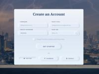 Neomorphism Create an Account
