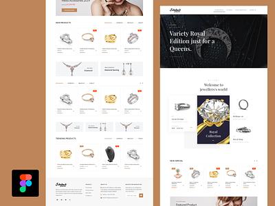 Jewellery eCommerce Template UI Design website design web design website jewellery shop user experience design user interface design figmadesign