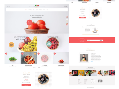 Organic Food store user experience design user interface design figmadesign website development website design web design website web ecommerce app ecommerce design ecommerce shop food website food delivery