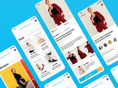 Woman openshop eCommerce app ui design figmadesign mobile ui mobile app development mobile app design shopping ecommerce app