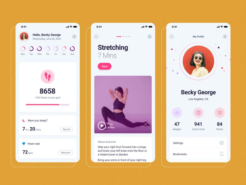 Fitness Gym Mobile App UI mobile ui mobile uiux mobile app design gym app fitness app