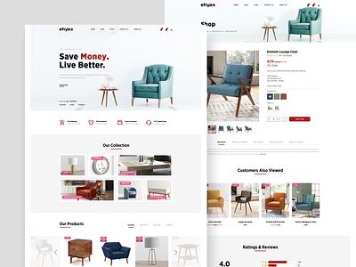 Modern furniture website UI figmadesign website ui design modern chair website design furniture app furniture website ecommerce design ecommerce shop user interface design