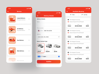 Delivery Of Goods App icon application design mobile ui mobile uiux ios app design mobile app design goods delivery app delivery service