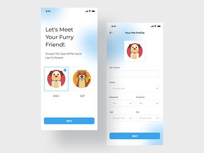 Pet Care vector illustration pets illustration illustration interaction minimal ui minimal ios app design mobile app development mobile app design figma design