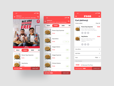 Food App pizza app clean ui food app design food app ui ios app development user experience design mobile app design user interface design