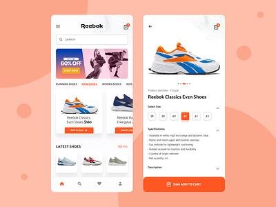 Footwear shop App mobile app