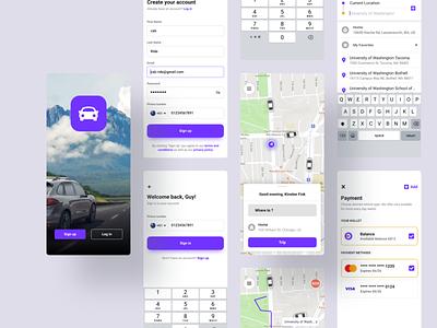 Car Booking Mobile App design app design figma ios app development user experience design mobile app design figmadesign user interface design