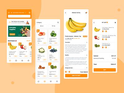 Grocery App figma design app design ios app development user experience design mobile app design figmadesign user interface design