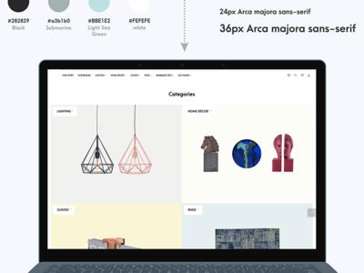 Home Decor E-Commerce Portal #Web Design #UI/UX