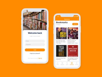 Bookstore iOS App design