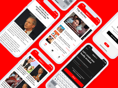 News App iOS App design