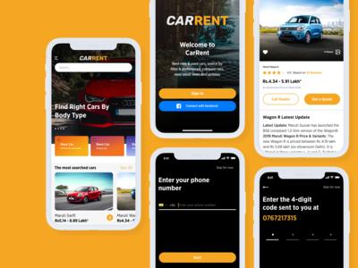 Car Rent App UI design