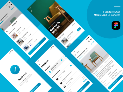 Furniture shop  Mobile app UI Concept