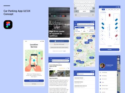Car parking Mobile app UI Concept