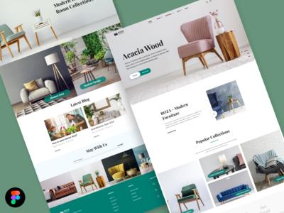 Furniture website design UI Concept