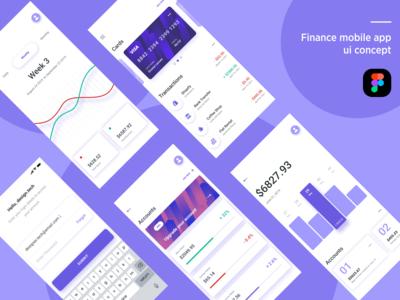 Finance Mobile App UI concept