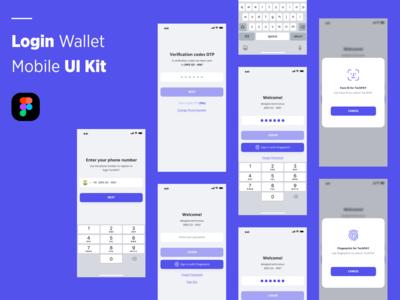 Login Wallet Mobile UI Kit