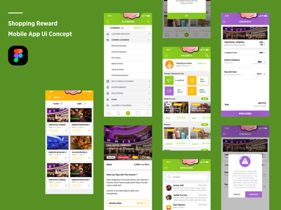 Shopping Reward mobile app ui concept ui design ux design ecommerce shop ecommerce app figma app designer ios app development app design figmadesign design mobile app design user experience design user interface design
