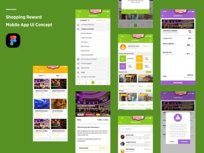 Shopping Reward mobile app ui concept