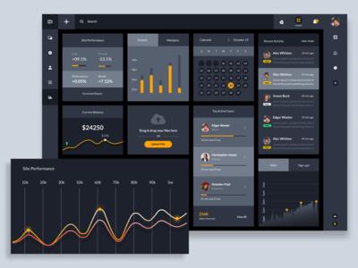 Dashboard Widgets & Components UI design