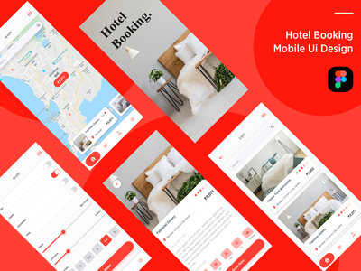 Hotel booking mobile UI deisgn. ui figma hotel booking hotel app ux design ui  ux ui design muzli ios app development mobile app design room booking figmadesign user experience design user interface design