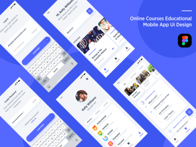 Online courses educational mobile app ui design