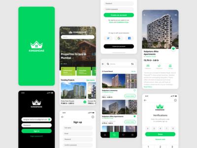 Real Estate Mobile App UI Design