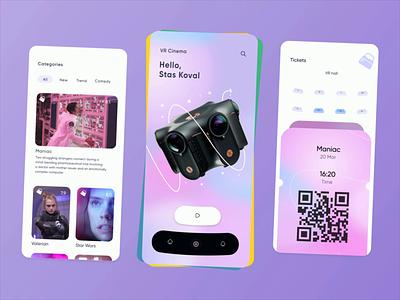 VR cinema [ mobile app ] vr mobile app adobe aftereffects app animate