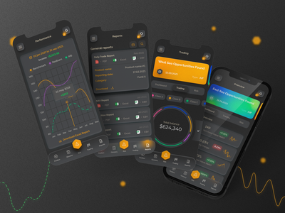 Hedge Fund Solutions mock-up mockup glassmorphism neomorphism chart hedge fund app design payment system app