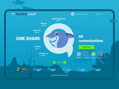 Shark chat logo ui shark motion graphics animation lottie