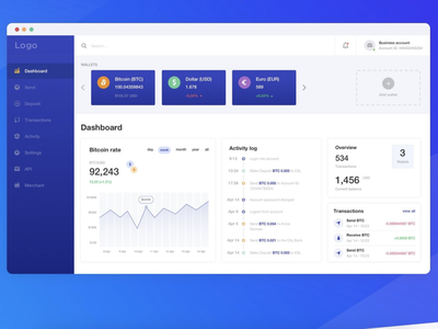 WildPay payment system admin panel dashboad
