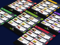 Menu Highlighted Restaurant Website Template