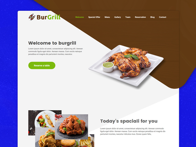 Burgrill - HTML5 Restaurant Website Template restaurant branding template design ux  ui ux ui restaurant
