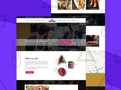 WeBake – Bakery and Pastry Shop Website Template pastry shop bakery ux design website ux  ui restaurant branding ui html css template design restaurant