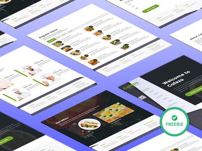 Free Restaurant and Cafe Website (PSD+HTML5) Template template design free website template free psd free restaurant restaurant branding free template
