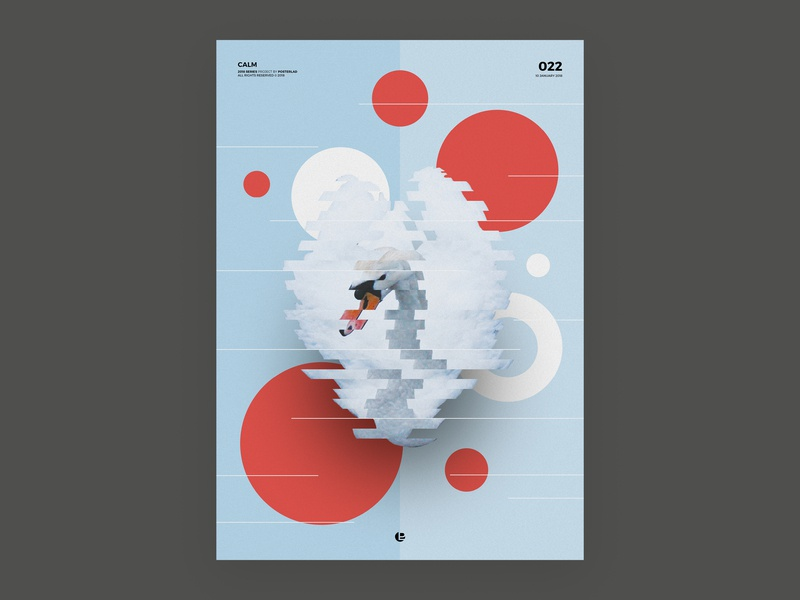 Calm print design abstract clean cool vector poster a day poster art poster