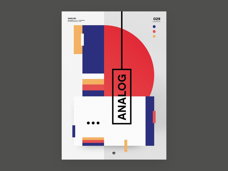 Analog print design vector clean cool abstract poster a day poster art poster
