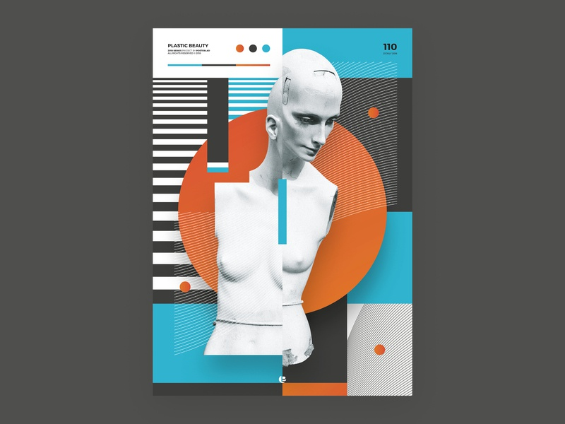 Plastic Beauty abstract print cool design vector clean cool poster art poster a day poster