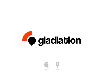 Gladiation - Logo illustrator adobe illustrator red logodesign gladiator maps map logo app icon typography ux ui illustration logotype logos flat minimal