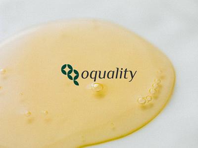 oquality - logo logotype oq logo q logo o logo organic logo cosmetic cosmetic logo cosmetics organic typography branding logo design adobe illustrator logos logodesign logo design minimal flat