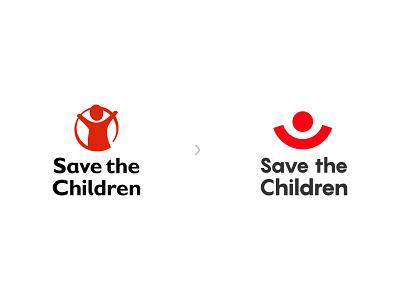 Save the Children Redesign Concept minimalist logo branding logos logo design logodesign logotype logo design adobe illustrator minimal flat