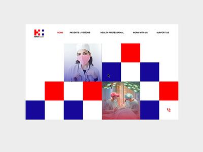 HRVHealth Web Concept 1 ui  ux web minimal adobe after effects after effects after effect branding webdesign web design 2danimation 2d ui animation uiux