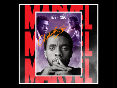 TRIBUTE POSTER DESIGN FOR - CHADWICK AARON BOSEMAN socialmediapost designposter design social media design socialmedia photoshop graphic design graphicdesign poster art poster design poster