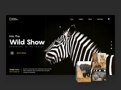 UI/UX Landing Page Design for National Geographics web design animals landing page design landingpage webdesign website website design figmadesign figma ux design uxdesign uxui ui design uidesign uiux ux ui design graphicdesign adobe