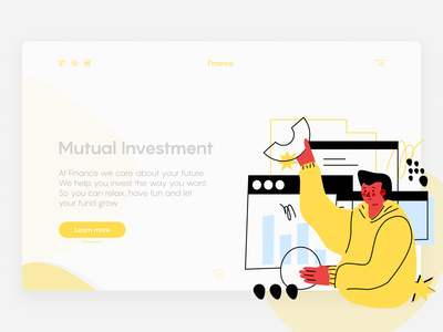 Landing Page Design for Finance finance landing design web design figmadesign figma vector landing page design landingpage website design webdesign website uxdesign uxui ui design uidesign uiux ux ui graphicdesign adobe